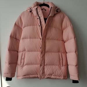 Aritzia TNA Baby Pink Super Puff Coat XS